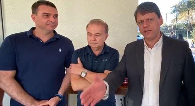 Flávio Bolsonaro, Fernando Jordão e Tarcísio Gomes de Freitas
