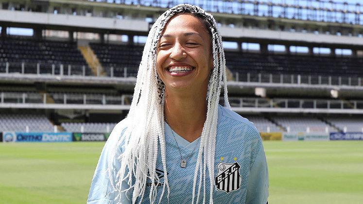 FECHADO - A atacante Byanca Brasil, ex-Internacional, é o novo reforço das Sereias da Vila para a temporada. Ela é a maior artilheira na história do Campeonato Brasileiro Feminino A-1, com 48 gols e assinou com o Santos.