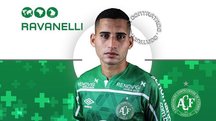 FECHADO - A Chapecoense anunciou o reforço do meia Ravanelli, que estava no Athletico Paranaense. O meia de 23 anos chega para ficar no clube catarinense até dezembro de 2021.