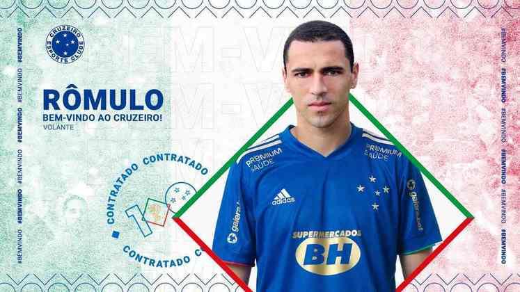 FECHADO - A diretoria do Cruzeiro acertou, na tarde desta sexta-feira (26), a oitava contratação para a temporada 2021. Trata-se do meio-campista Rômulo. O atleta, que possui dupla nacionalidade (brasileira e italiana), assina contrato de três anos com o Melhor Clube Brasileiro do Século XX.