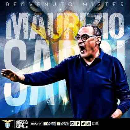 FECHADO - A Lazio anunciou a chegada de Maurizio Sarri para ser o novo técnico da equipe, após Simone Inzaghi deixar o clube e ir para a Inter de Milão.