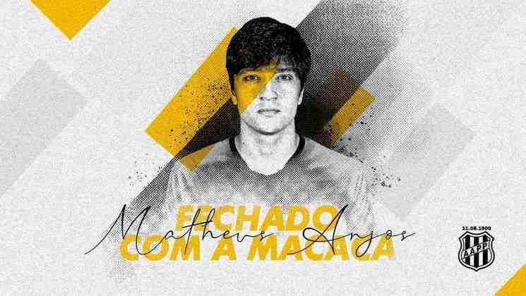 FECHADO - A Ponte Preta anunciou a chegada do meia Matheus Anjos, ex-Athletico e que defenderá a Macaca na atual temporada.