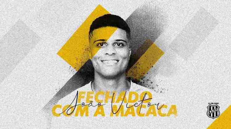 FECHADO - A Ponte Preta anunciou a contratação por empréstimo do atacante João Victor, ex-Nacional da Ilha da Madeira.