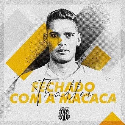 FECHADO - A Ponte Preta anunciou dois reforços para a nova temporada: o meia-atacante Bruno Michel, que pertencia ao Figueirense, e meia Thalles, que estava no Goiás e fechou o seu empréstimo com a Macaca até dezembro de 2021.