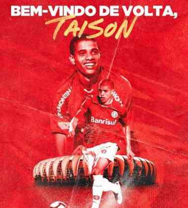 FECHADO - Agora é oficial. Através das redes sociais, o Internacional anunciou a volta do atacante Taison ao Beira-Rio. Ele vestirá a camisa 10 do clube.