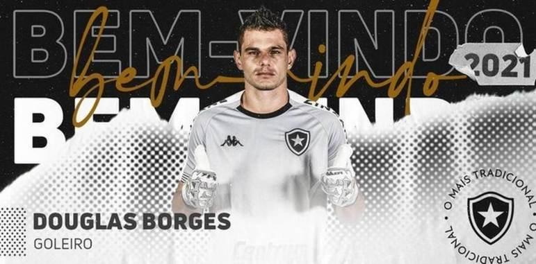 FECHADO - Após o lateral-direito Jonathan, o Botafogo anunciou mais um reforço para a temporada, nesta quinta-feira. Trata-se do goleiro Douglas Borges, que tinha fechado vínculo com o Novorizontino para disputa do Campeonato Paulista. O contrato com o clube de General Severiano é válido até o fim de 2021.