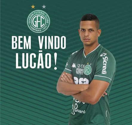 FECHADO - Artilheiro do CRB em 2021 e em grande momento na carreira, o atacante Lucão vem passando por um grande momento na temporada e já tem novo desafio esse ano. O jogador, com passagem pelo Goiás, assinou com o Guarani para a disputa da Série B do Campeonato Brasileiro.