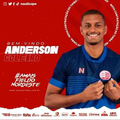 FECHADO - Buscando o acesso para a Série A 2022, o Náutico também oficializou o retorno do goleiro Anderson, que já teve uma passagem pelo clube na temporada passada. O contrato é de empréstimo até o final do ano.