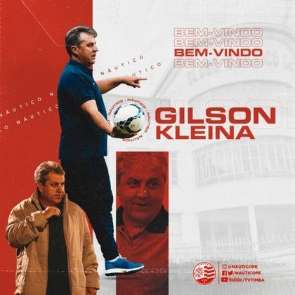 FECHADO - Depois de na última sexta-feira (15) tornar oficial a saída do técnico Gilmar Dal Pozzo, o Náutico confirmou Gilson Kleina como seu novo treinador. Será a primeira vez do profissional no futebol pernambucano.