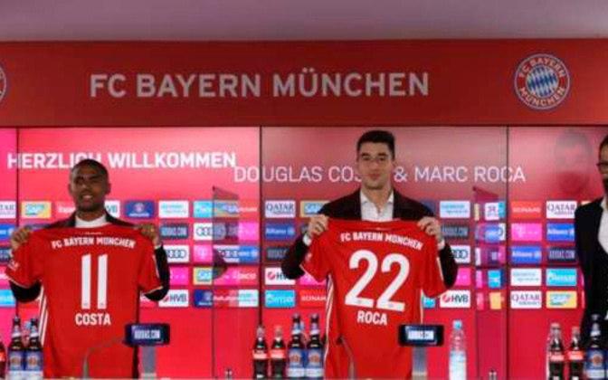 FECHADO: Douglas Costa e Marc Roca foram apresentados como novos reforços para a temporada do Bayern de Munique