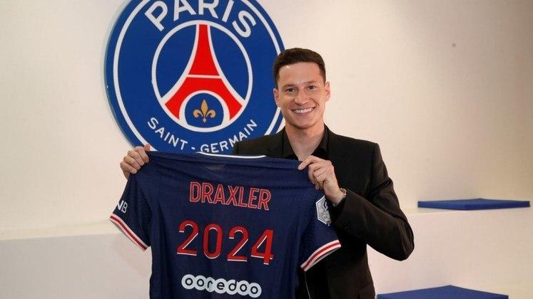 FECHADO - Draxler é do Paris Saint-Germain até 2024. Nesta segunda-feira, o clube francês anunciou oficialmente a renovação de contrato do alemão, que iria até o final da atual temporada.