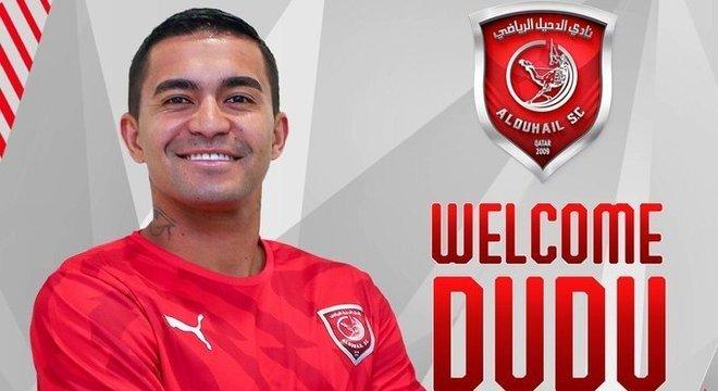 Dudu foi oficializado pelo Al-Duhail nesta segunda-feira