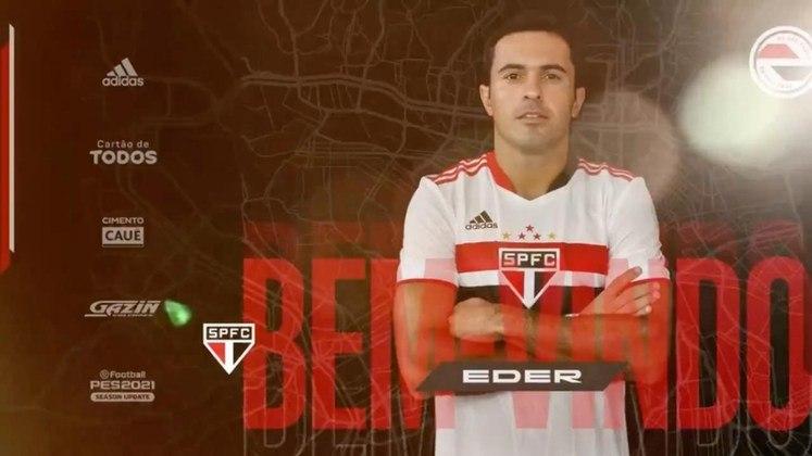 FECHADO - Em suas redes sociais, o São Paulo anunciou o atacante Éder, ex-Inter de Milão, da Itália. O atleta já havia acertado com o Tricolor, mas ainda aguardava os resultados dos exames médicos para poder assinar o contrato.