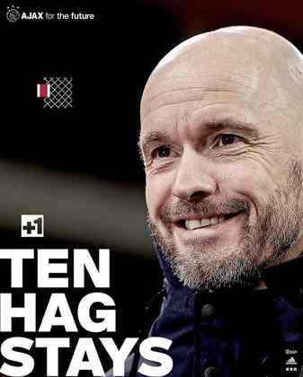 FECHADO - Erik ten Hag é do Ajax até 2023. Especulado no Tottenham para o lugar de José Mourinho, o treinador renovou com o clube holandês por mais duas temporadas.
