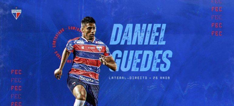 FECHADO - FECHADO - O Fortaleza acertou o empréstimo do lateral Daniel Guedes até o final de 2021. O atleta estava no Santos na última temporada.