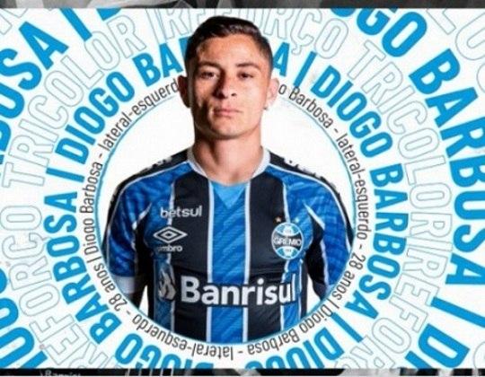FECHADO: Fim da novela. Na noite desta sexta-feira, o Grêmio oficializou a chegada do lateral-esquerdo Diogo Barbosa, que estava no Palmeiras. O contrato é válido até dezembro de 2023.
