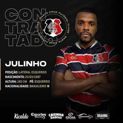 FECHADO - Julinho, lateral esquerdo ex- Ituano chega ao Santa Cruz para defender o clube no Brasileirão Série C 2021.