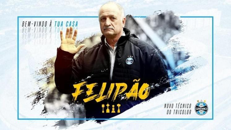 FECHADO - Logo depois da derrota por 2 a 0 diante do Palmeiras, no Allianz Parque, o Grêmio confirmou as expectativas ao oficializar o retorno de Luiz Felipe Scolari ao cargo de treinador o qual ele já ocupou em outras 370 oportunidades no clube.