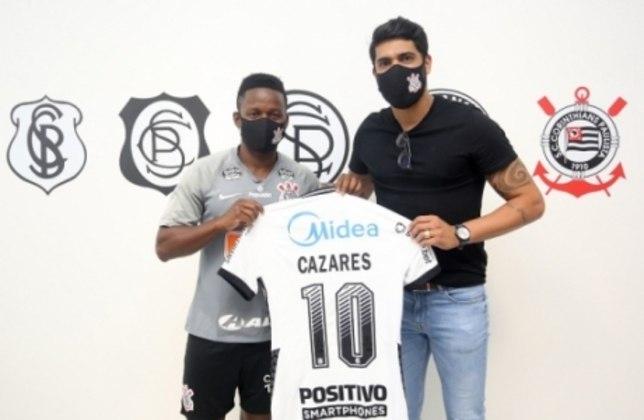 FECHADO - Na manhã deste sábado, após enorme expectativa durante mais de uma semana, o Corinthians finalmente anunciou a contratação de Juan Cazares como reforço para o elenco. O equatoriano chega sem custos do Atlético-MG e assinou contrato até junho de 2021 depois de realizar exames e testes.