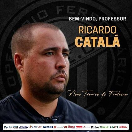 FECHADO - Nesta sexta-feira, Ricardo Catalá foi anunciado como mais novo técnico do Operário. O treinador chega para comandar o Fantasma no restante da Série B 2021.