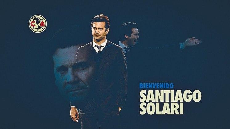 FECHADO - O América do México fechou nesta terça-feira a contratação do técnico ex-Real Madrid, Santiago Solari.