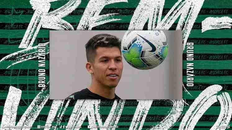 FECHADO - O América-MG anunciou a contratação do meia Bruno Nazário, em empréstimo junto ao Hoffenheim até dezembro de 2021.