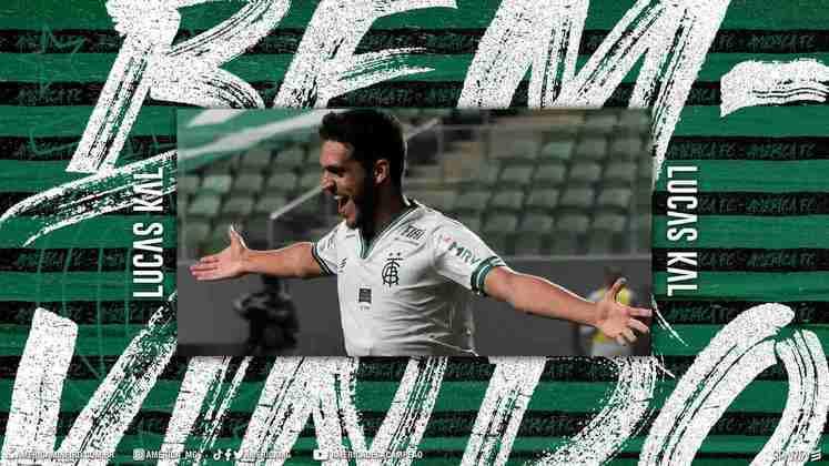 FECHADO - O América-MG anunciou a contratação do zagueiro Lucas Kal, que pertence ao São Paulo e chega por empréstimo ao Coelho até março de 2022.
