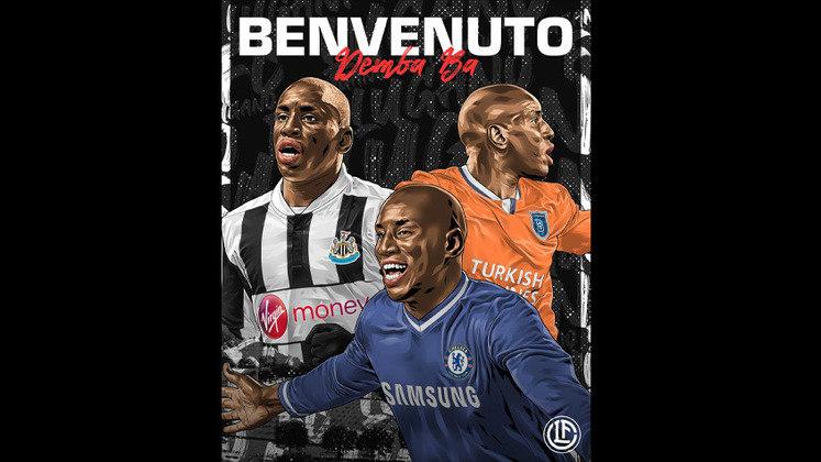 FECHADO - O atacante Demba Ba assinou contrato por uma temporada com o Lugano. Com isso, o veterano de 36 anos será dirigido pelo técnico Abel Braga