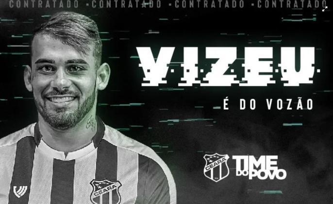 FECHADO - O atacante Felipe Vizeu, ex-Flamengo e ex-Grêmio, está de volta ao futebol brasileiro. O jogador foi anunciado oficialmente como o mais novo reforço do Ceará. O atleta de 23 anos estava no Akhmat Grozny, da Rússia, e foi emprestado pela Udinese (ITA) ao Vozão até junho de 2021.
