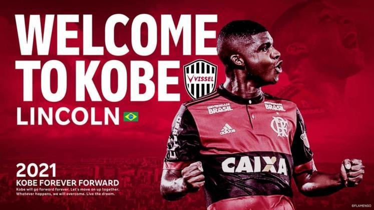 FECHADO - O atacante Lincoln é o novo reforço do Vissel Kobe, do Japão. Na manhã desta quarta-feira, o clube asiático anunciou o brasileiro, que enviou uma mensagem aos torcedores do país.