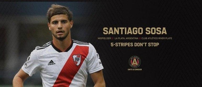 FECHADO - O Atlanta United acertou a contratação do meio campista ex-River Plate Santiago Sosa.