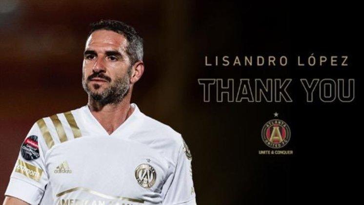 FECHADO - O Atlanta United anunciou que o atacante Lisandro López está deixando o clube e assim ficará livre no mercado para assinar com qualquer clube de graça.