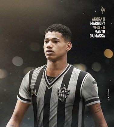FECHADO - O Atlético-MG oficializou na tarde desta quarta-feira, 24 de junho a contratação do atacante Marrony, de 21 anos, vindo do Vasco da Gama.