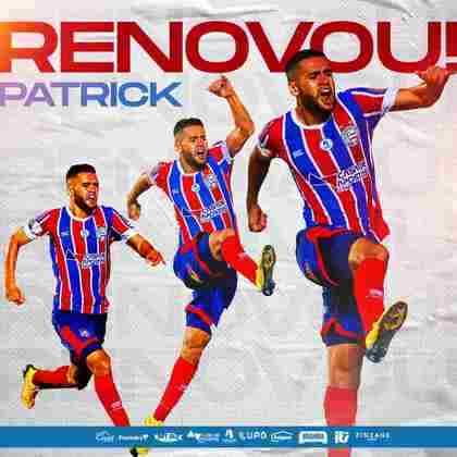FECHADO - O Bahia renovou o contrato do meia Patrick após o volate se destacar pela equipe e o vínculo atual terminar em 2021.