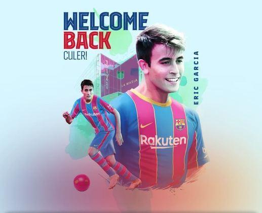 FECHADO - O Barcelona acertou o retorno do jovem zagueiro ex-Manchester City, Eric García, que não renovou com os ingleses e assinou de graça com os Culés. O vínculo do zagueiro vai até a metade de 2026 com uma cláusula de 400 milhões de euros.