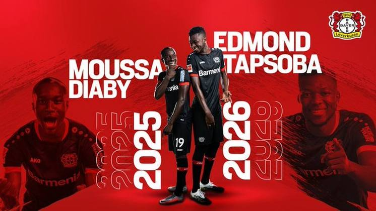 FECHADO - O Bayer Leverkusen renovou o contrato do ponta, Moussa Diaby, até 2025 e do zagueiro, Tapsoba, até 2026.