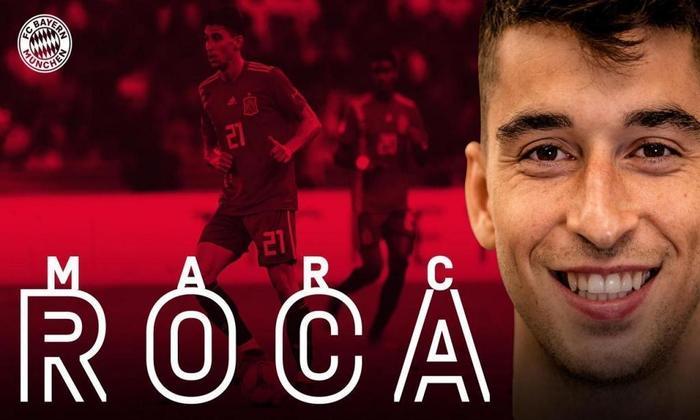 FECHADO - O Bayern de Munique anunciou neste domingo a contratação de Marc Roca, que defendia as cores do Espanyol. O volante assinou contrato de cinco temporadas com os bávaros.