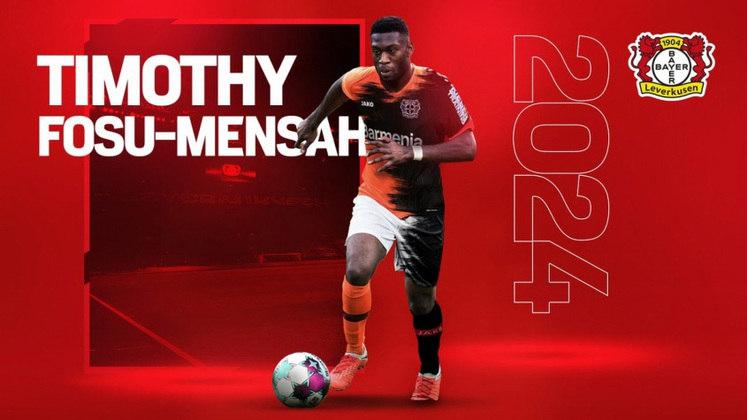 FECHADO - O Bayern Leverkusen oficializou a chegada, até 2024, do lateral direito do Manchester United, Fosu Mensah, por dois milhões de euros.