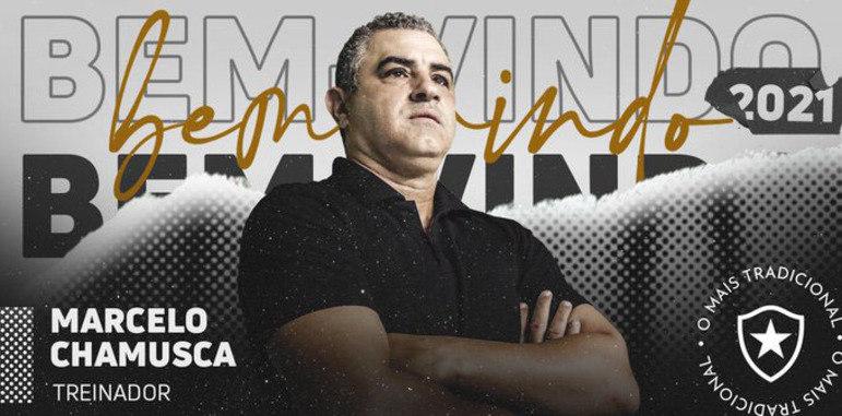 FECHADO - O Botafogo tem acordo para contratar Marcelo Chamusca e o comandante de 54 anos assumir o Alvinegro na próxima temporada. Marcelo Chamusca aceitou o projeto do Alvinegro e assinará um contrato de válido por uma temporada, até o fim da Série B.