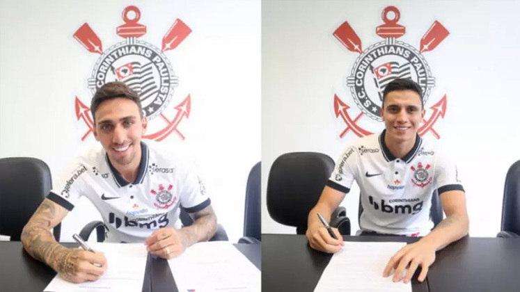 FECHADO - O Corinthians anunciou a renovação de contrato de dois jovens: Gustavo Silva e Gustavo Mantuan. Aos 23 anos, Mosquito tinha contrato até dezembro de 2022 e estendeu seu vínculo até dezembro de 2023. Já Mantuan tinha vínculo até o fim de fevereiro de 2024, mas foi estendido até janeiro de 2025.
