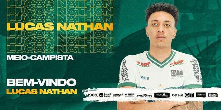 FECHADO - O Coritiba acertou o empréstimo do meia Lucas Nathan, que pertence a Caldense e fica no Coxa até dezembro de 2021.