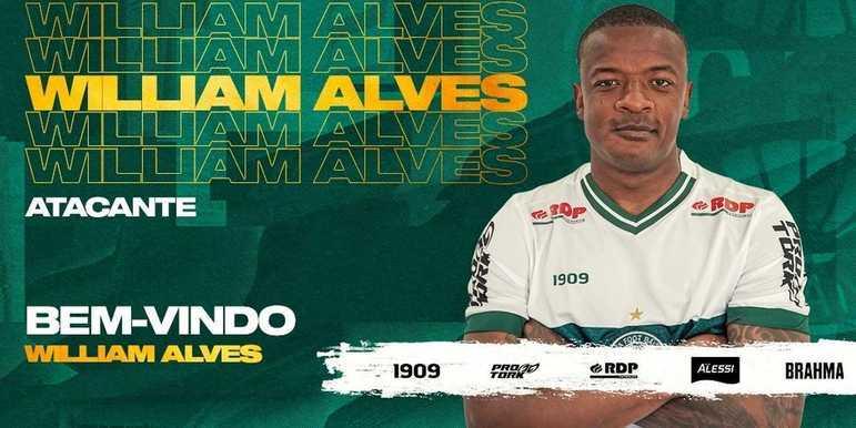 FECHADO - O Coritiba fechou a contratação do atacante William Alves, que estava no Chaves, de Portugal e chega para reforçar o Coxa em 2021.