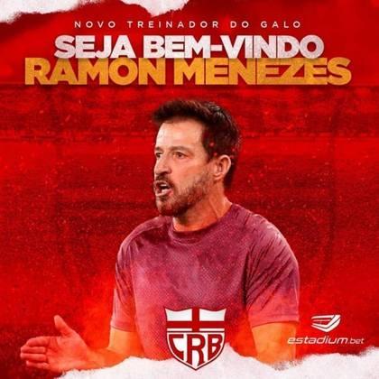FECHADO - O CRB anunciou a chegada de seu novo comandante até o fim da temporada: Ramon Menezes, ex-Vasco.