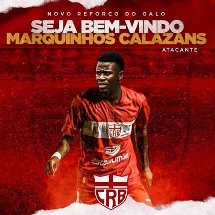 FECHADO - O CRB confirmou na tarde desta sexta-feira, a contratação do atacante Calazans como reforço para a disputa da Série B do Campeonato Brasileiro. O jogador pertence ao São Paulo e foi emprestado ao clube alagoano até o fim desta temporada - em fevereiro do ano que vem.