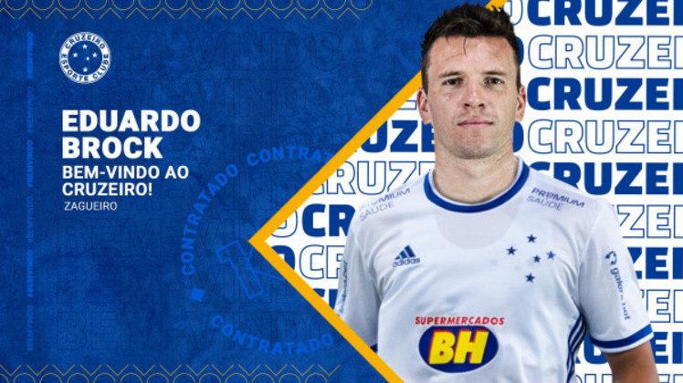 FECHADO - O Cruzeiro anunciou a chegada do zagueiro Eduardo Brock, ex-Ceará, até a metade de 2022.