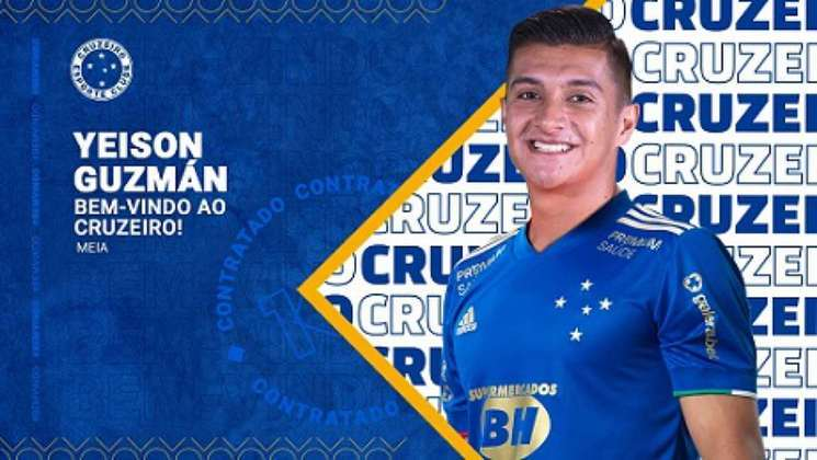 FECHADO - O Cruzeiro  confirmou mais um reforço para a temporada 2021.O meia Yeison Guzmán, de 23 anos, do Envigado, da Colômbia, foi anunciado pela Raposa no fim da manhã desta quinta-feira, 15 de abril.   A Raposa conseguiu contornar com o staff do jogador e com o clube colombiano questões salariais de Yeison Guzmán, para que o negócio fosse selado, o que foi confirmado pelo time da Colômbia. O Cruzeiro ficará com o percentual maior dos seus direitos econômicos.