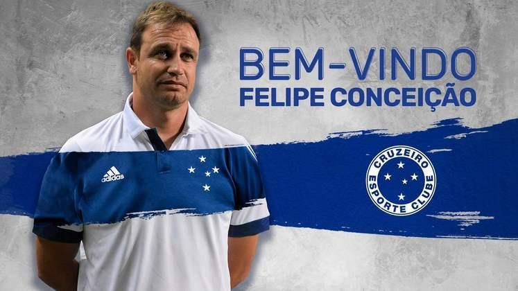 FECHADO - O Cruzeiro contratou o técnico Felipe Conceição para comandar a equipe mineira até o final de 2021.
