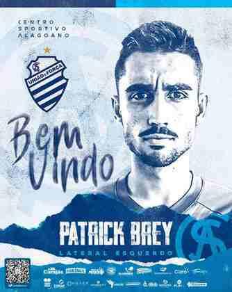 FECHADO - O CSA fechou a contratação do lateral Patrick Brey para a temporada 2021. O atleta já passou por Cruzeiro e Coritiba anteriormente.