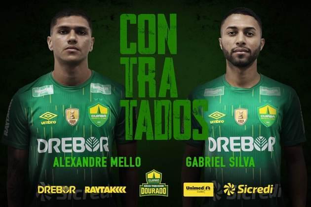 FECHADO - O Cuiabá anunciou a contratação de dois novos jogadores para o elenco. Trata-se do lateral Alexandre Mello, ex-Vasco e de Gabriel Silva, atacante que defendia o Globo até emtão