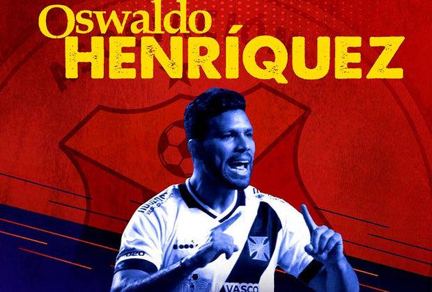 FECHADO - O Deportivo Pasto, da Colômbia, anunciou o zagueiro colombiano Oswaldo Henríquez, defensor de 31 anos e que defendia o Bnei Sakhin, de Israel. Henríquez passou de janeiro de 2016 a dezembro de 2019 entre Vasco e Sport.